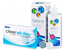 Clear All-Day (6 lenses) + Gelone Solution 360 ml
