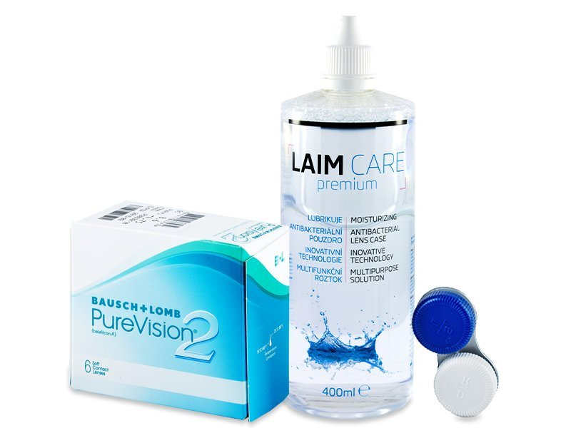 PureVision 2 (6 lenses) + Laim-Care Solution 400ml