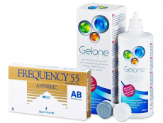 Frequency 55 Aspheric (6 lenses) + Gelone Solution 360 ml
