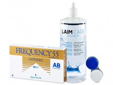 Frequency 55 Aspheric (6 lenses) + Laim-Care Solution 400ml
