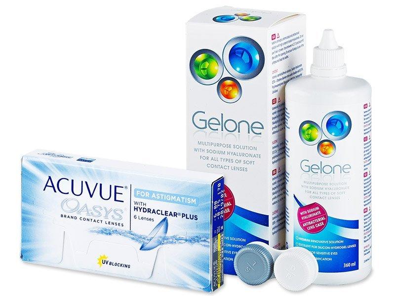 Acuvue Oasys for Astigmatism (6lenses) +GeloneSolution 360ml