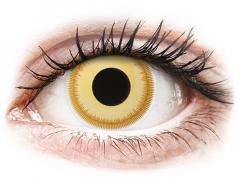 Yellow Avatar contact lenses - ColourVue Crazy (2 coloured lenses)