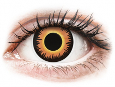 Orange Werewolf contact lenses - ColourVue Crazy (2 coloured lenses)
