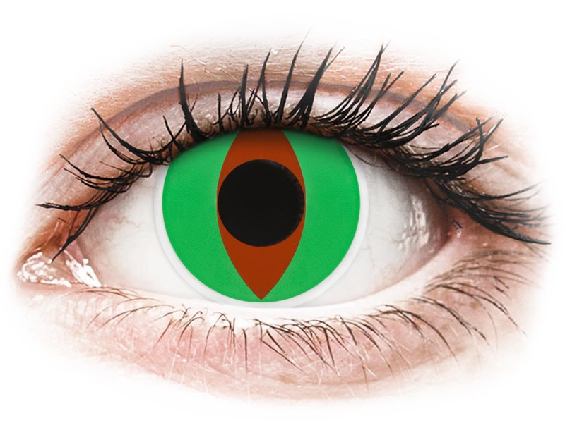 Green Raptor contact lenses - ColourVue Crazy (2 coloured lenses)