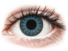 Solar Blue contact lenses - power - ColourVue Crazy (2 coloured lenses)