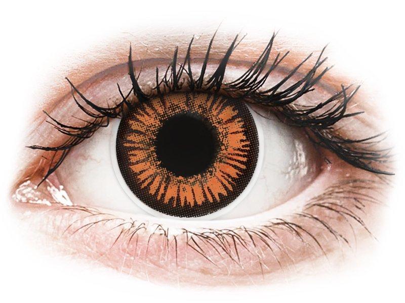 Orange Twilight contact lenses - power - ColourVue Crazy (2 coloured lenses)