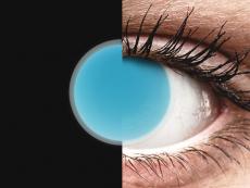 Electric Blue Glow contact lenses - ColourVue Crazy (2coloured lenses)