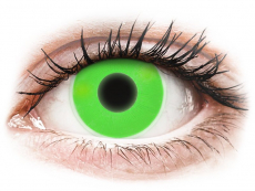 Green Glow contact lenses - ColourVue Crazy (2 coloured lenses)