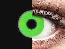 Green Glow contact lenses - ColourVue Crazy (2coloured lenses)