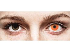 Orange Glow contact lenses - ColourVue Crazy (2coloured lenses)
