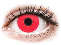 Red Glow contact lenses - ColourVue Crazy (2 colouredlenses)