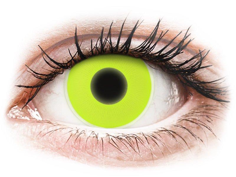 Yellow Glow contact lenses - ColourVue Crazy (2 colouredlenses)