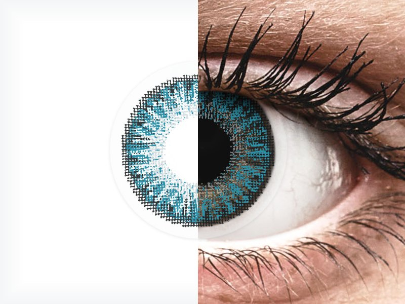 Blue contact lenses - TopVue Color (10 daily coloured lenses)