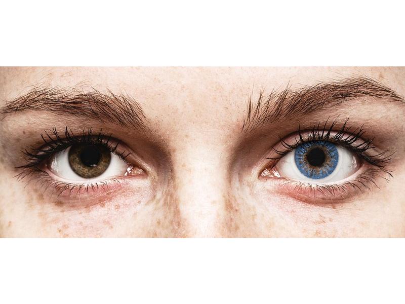 Blue True Sapphire contact lenses - power -TopVue Color (2monthly coloured lenses)