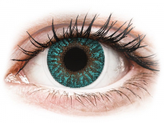 Turquoise contact lenses - TopVue Color (2 monthly coloured lenses)