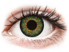 Green Glamour contact lenses - power - ColourVue (2 coloured lenses)
