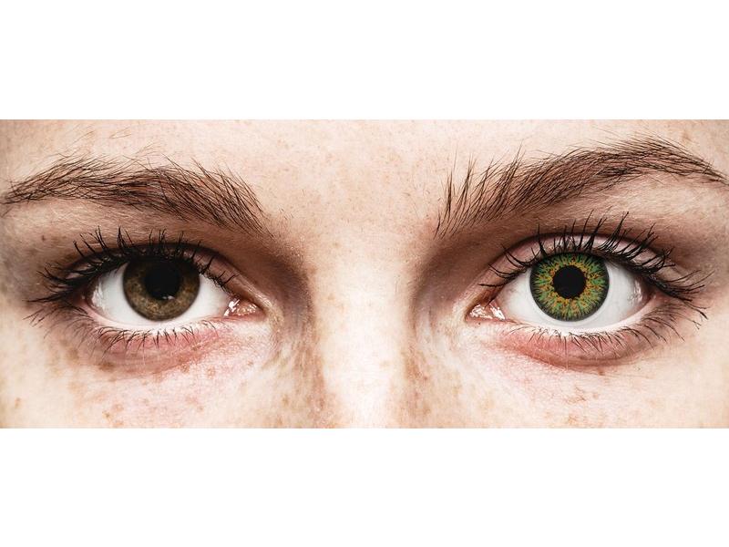 Green Glamour contact lenses - power - ColourVue (2 coloured lenses)