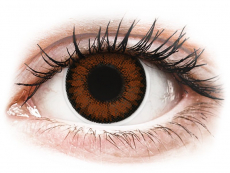Pretty Hazel contact lenses - power - ColourVue BigEyes (2 coloured lenses)