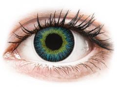 Yellow Blue Fusion contact lenses - power - ColourVue (2 coloured lenses)