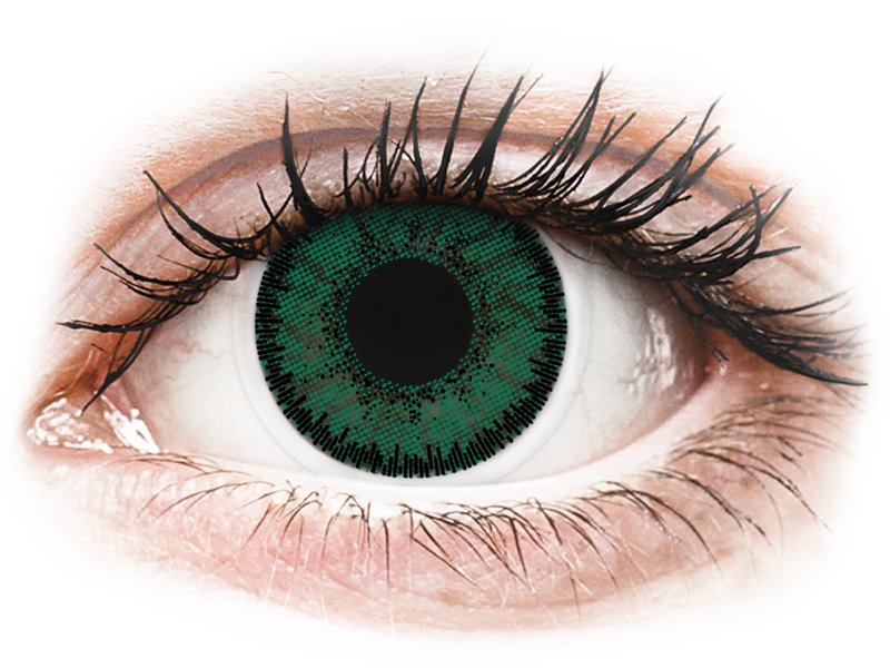 Green Amazon contact lenses - SofLens Natural Colors - Power (2 monthly coloured lenses)