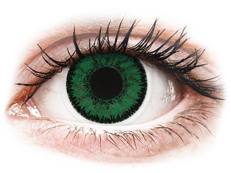Green Emerald contact lenses - SofLens Natural Colors (2 monthly coloured lenses)
