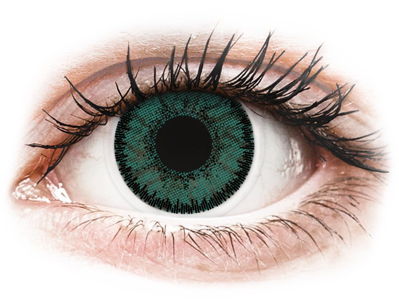 Green Jade contact lenses - SofLens Natural Colors - Power (2 monthly coloured lenses)