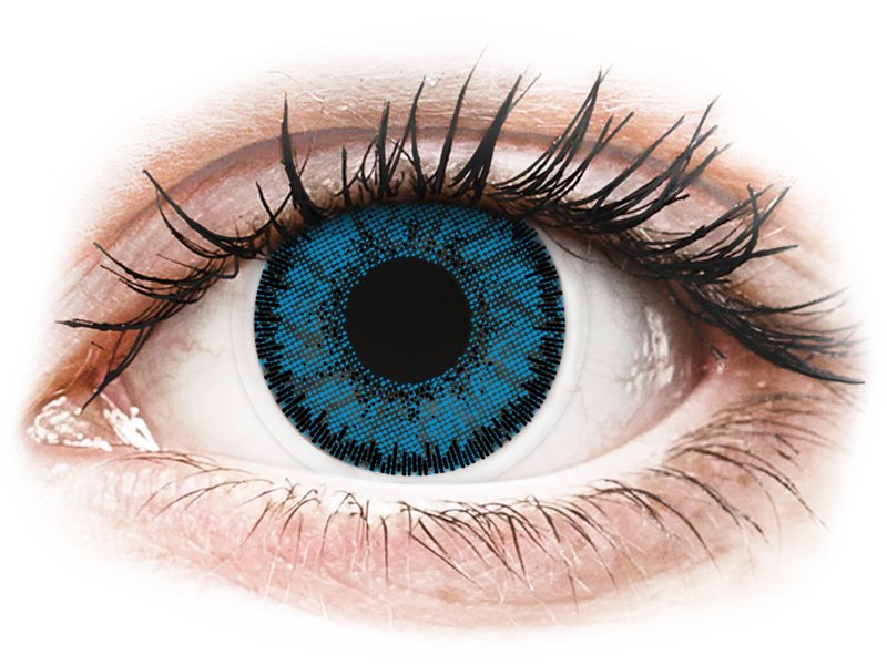 Blue Topaz contact lenses - SofLens Natural Colors - Power (2 monthly coloured lenses)