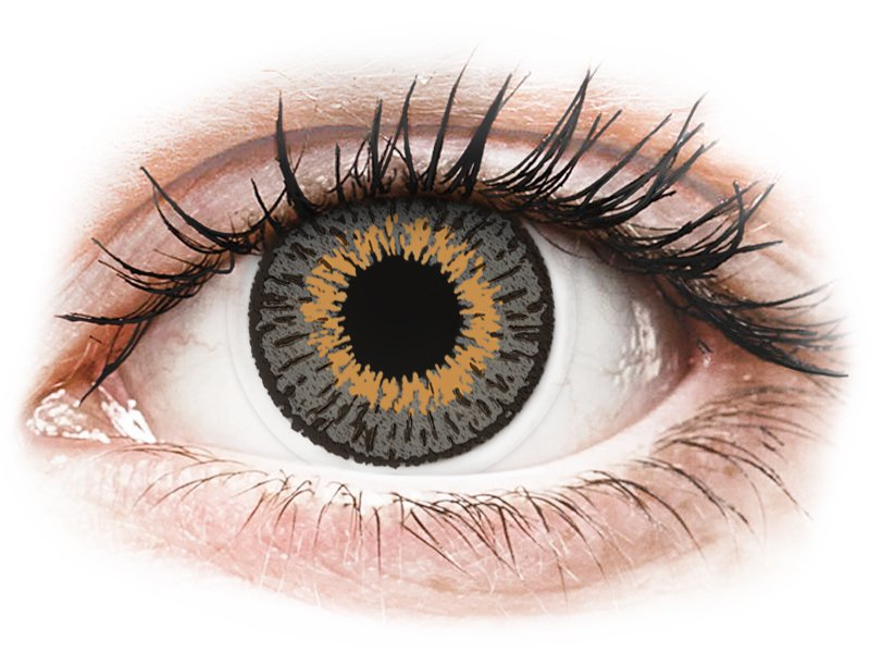 Grey contact lenses - Expressions Colors - Power (1 monthly coloured lens)