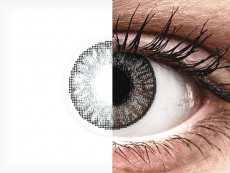Sterling Gray contact lenses - FreshLook ColorBlends - Power (2 monthly coloured lenses)