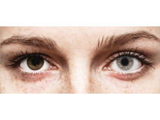 Misty Gray contact lenses - FreshLook Colors - Power (2 monthly coloured lenses)