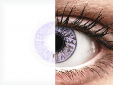 Violet contact lenses - FreshLook Colors - Power (2 monthly coloured lenses)