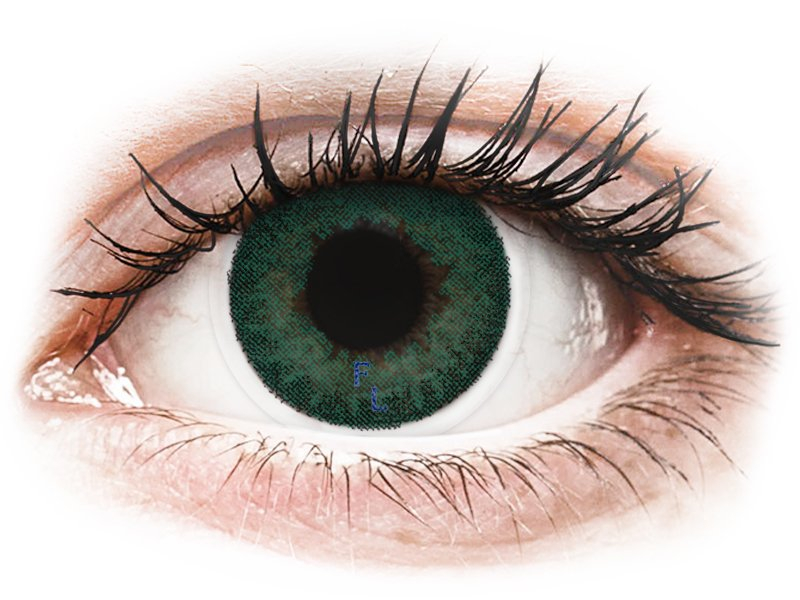 Carribean Aqua contact lenses - FreshLook Dimensions (2 monthly coloured lenses)