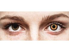 Orange Werewolf contact lenses - ColourVue Crazy (2 daily coloured lenses)