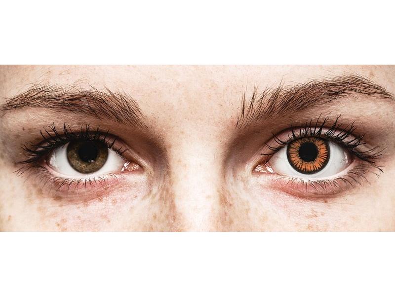 Orange Twilight contact lenses - ColourVue Crazy (2 daily coloured lenses)
