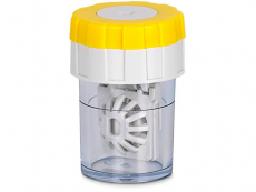 Lens Case Twist Top - Yellow