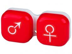 Lens Case man & woman - red