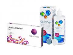 Avaira Vitality Toric (3 lenses) + Gelone Solution 360 ml