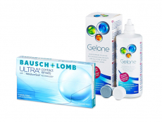Bausch + Lomb ULTRA (3 lenses) + Gelone Solution 360 ml
