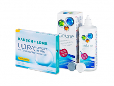 Bausch + Lomb ULTRA for Presbyopia (3 lenses) + Gelone Solution 360 ml