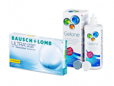 Bausch + Lomb ULTRA for Presbyopia (6 lenses) + Gelone Solution 360 ml