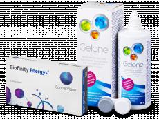 Biofinity Energys (3 lenses) + Gelone Solution 360 ml
