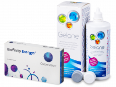 Biofinity Energys (6 lenses) + Gelone Solution 360 ml