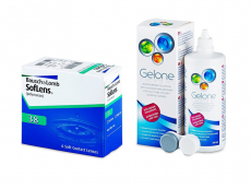 SofLens 38 (6 lenses) + Gelone Solution 360 ml