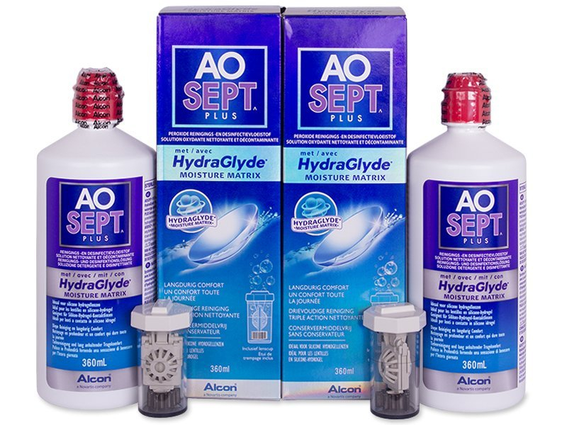 AO SEPT PLUS HydraGlyde Solution 2 x 360ml
