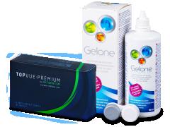 TopVue Premium for Astigmatism (6lenses) +Gelone Solution 360 ml
