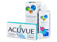 Acuvue Oasys with Transitions (6 lenses) + Gelone solution 360 ml