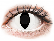 CRAZY LENS - Cat Eye White - plano (2 daily coloured lenses)