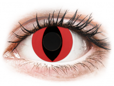 CRAZY LENS - Cat Eye Red - plano (2 daily coloured lenses)