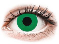 CRAZY LENS - Emerald Green - power (2 daily coloured lenses)