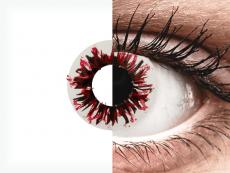 CRAZY LENS - Harlequin Black - power (2 daily coloured lenses)
